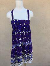 SILK DRESS PURPLE SHIFT MINI ANTHROPOLOGIE SPRING 4 WOW
