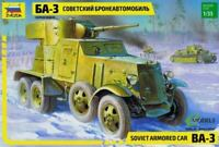 BA-3 - WW II SOVIET HEAVY ARMOURED CAR #3546 1/35 ZVEZDA