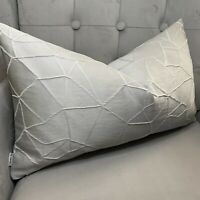 "Luxury Cushion Cover 12""x20"" Ashley Wilde Atlas Fabric Grey & Silver Home Decor"