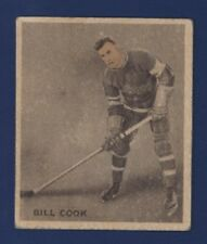 1933-34 WWG Ice Kings BILL COOK #30 VG New York Rangers English Only !