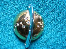 """Cabouchon Anstecknadel """"Saturn"""" mit vielen Zirkoniasteinchen, 5cm"""
