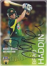 ✺Signed✺ 2014 2015 AUSTRALIAN Cricket Card BRAD HADDIN Big Bash League