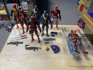 Marvel Legends Deadpool - Blue X-Men Lady DP Headpool - Lot Of 7 Figures - USED