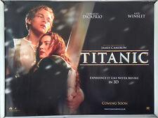 Cinema Poster: TITANIC 3D 2012 (Advance Quad) Leonardo DiCaprio Kate Winslet