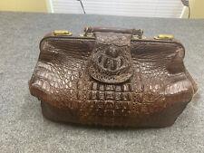 Antique Doctors Bag Hornback Alligator Leather Rare !