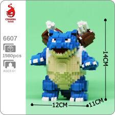 CHAKRA 6607 Pokemon Blastoise Pocket Monster Mini Diamond Blocks Building Toy