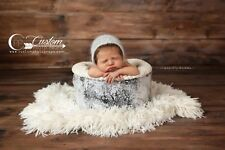 White Clouds Soft Faux Fur Newborn Photo Prop, Baby Props, Basket Stuffer