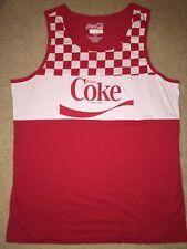 COKE Coca-Coca can Bottle logo POP Beach MEN'S New SLEEVELESS Tank Top T-SHIRT