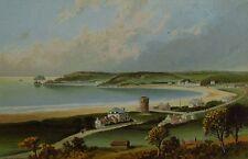 St Brelade's Bay, Jersey - Antique Chromolithograph circa 1890