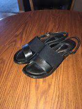 "DANSKO Women's ""Diandra"" Black Leather Slingback Platform Sandals Size 38"