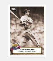 Stan Musial 100th Birthday Celebration Card 2 St. Louis Cardinals   SHORT PRINT