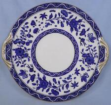 Royal Doulton Clifton Cake Cookie Plate Flowers Insects Blue White Porcelain