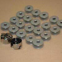 Industrial Sewing Machine Aluminum 20 Bobbins 2 Bobbin Case for Brother Singer