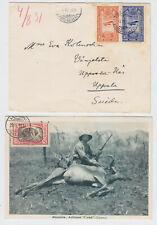 ETHIOPIA 1931-1951, 10 COVERS, NICE FRANKINGS!
