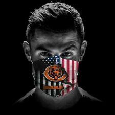 Chicago Bears Cloth Face Mask 3D With