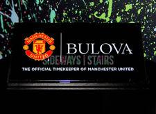 BULOVA MANCHESTER UNITED WATCH BRAND DEALER SIGN watches jewelry counter display