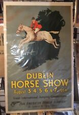 Dublin Horse Show Pan American Airlines poster app 27x40 inches