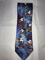 Mickey Unlimited Mickey Mouse Through the Years Disney Men Blue Classic Neck Tie