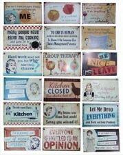 Plaques, panneaux et enseignes vintage/rétro pour la décoration de la cuisine