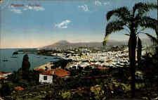 Madeira Portugal Color AK  ~1910 gelaufen Blick auf Funchal mit Hafen Panorama