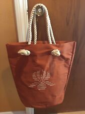 Woman's Rust Tote Bag by Sisley Paris NEW