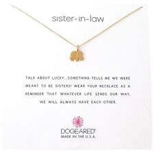 "Dogeared Sister In Law Gold Dipped Elephant Reminder Boxed 16"" -18"" Box Necklace"