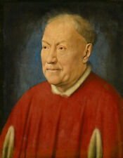 Portrait du cardinal Niccolò Albergati (Jan van Eyck) - poster métal - art mural