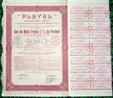 Paris IX ème 22 Rue Rochechouart - PLEYEL Très Célèbre Fabricant de Pianos 1928