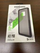 BodyGuardz Ace Pro Case for Samsung Galaxy S9, Block The Shock - Black