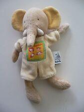 Doudou MOULIN ROTY éléphant salopette jaune