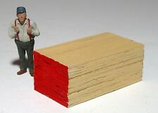 """CUSTOM BUILT PILE OF LUMBER 2"""" X 1"""" X 3/4""""  MAN NOT INCLUDED 1/43  O scale On30"""