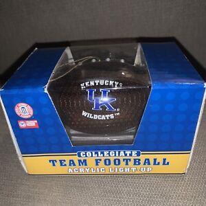 Kentucky Wildcats Acrylic Light-Up Football Ornament UK Collegiate New In Box