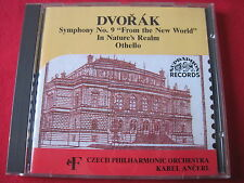 DVORAK SYMPHONY NO. 9 IN NATURES REALM / OTHELLO - ANCERL - SUPRAPHON (CD CZECH)