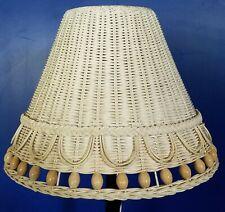Wicker Lamp Shade 16 x 11 Cream Color