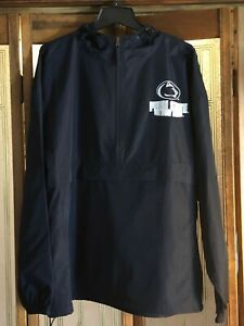 Penn State Nittany Lions NCAA Packable Hooded 1/2 Zip P.O. Jacket XXL/Navy/NWT!!