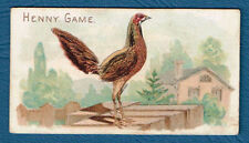 More details for n20 allen ginter tobacco cigarette card prize & game chickens henny game ex