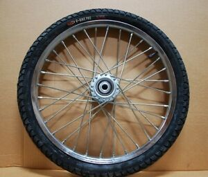 "Pair Horse Cart Heavy Duty Bike tires 20""x2.125""/5/8""Axle, 3""Hub w/Roll Bearings"