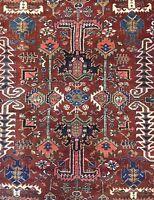 Handsome Heriz - 1920s Antique Persian Rug - Tribal Oriental Carpet - 8 x 10.6