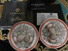 VERSACE COASTERS SET OF 2 etoiles LA MER MEDUSA Rosenthal New Retail $200 SALE