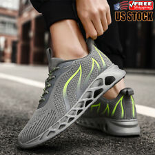 Men Running Tennis Athletic Sneakers Gym Shoes Light Breathable Casual Non Slip