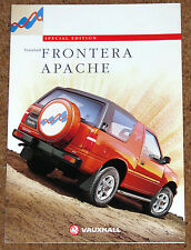 1995-96 VAUXHALL FRONTERA APACHE Sales Brochure - Special Edition Model 2.0i