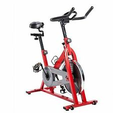 Sunny Health & Fitness Indoor Cycle Trainer - 30 Lb-Flywheel, Red