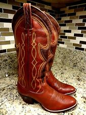 **LOOK** DAN POST BOOTS WOMEN SIZE 5 C WIDE WESTERN COWGIRL BROWN SPAIN LEATHER