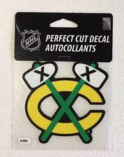 """Chicago Blackhawks 4"""" x 4"""" Retro Logo Truck Car Window Die Cut Decal Color NHL"""