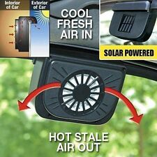 AutoCool Solar Car Window Fan Auto Ventilator Cooler Air Vent Vehicle Radiator S