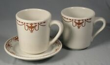 3 Pc Sterling China - 2 mugs, cups, & 1 saucer - Brown