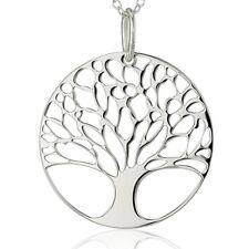 925 Silber Anhänger Lebensbaum Baum des Lebens Glücksbringer Medaillon Kette