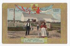 Habitant Life Studies Farm Scene QUEBEC Canada 1907-15 Patriotic Valentine