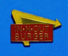 IN N OUT BURGER - RESTAURANT LOGO - FAST FOOD -ADVERTISING - LAPEL PIN - HAT PIN