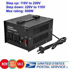 500W 110V to 220V Step Up & Down Voltage Converter Transformer HOT SALE